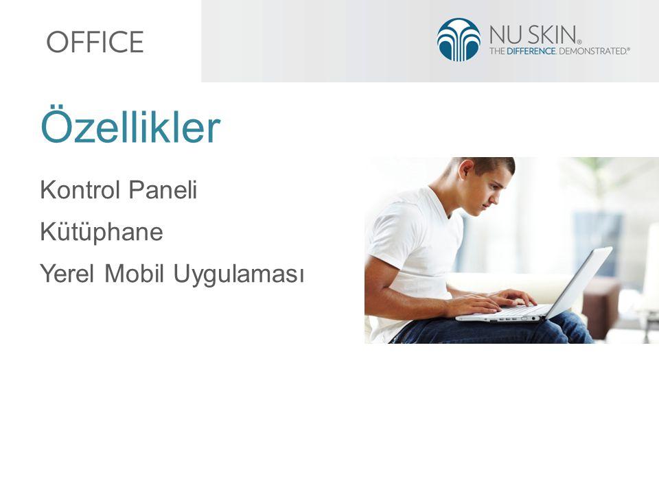 Kontrol Paneli Kütüphane Yerel Mobil Uygulaması Özellikler
