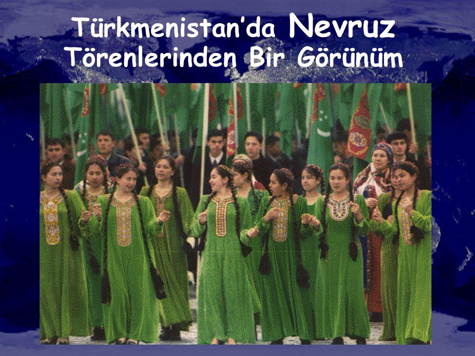 Türkmenistan'da Nevruz Törenlerinden Bir Görünüm
