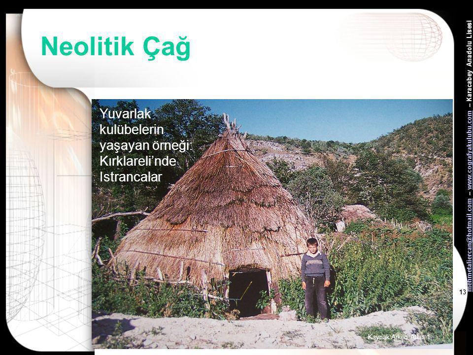 mehmetaliercan@hotmail.commehmetaliercan@hotmail.com – www.cografyakulubu.com – Karacabey Anadolu Lisesiwww.cografyakulubu.com 12 Neolitik Çağ Barınağ