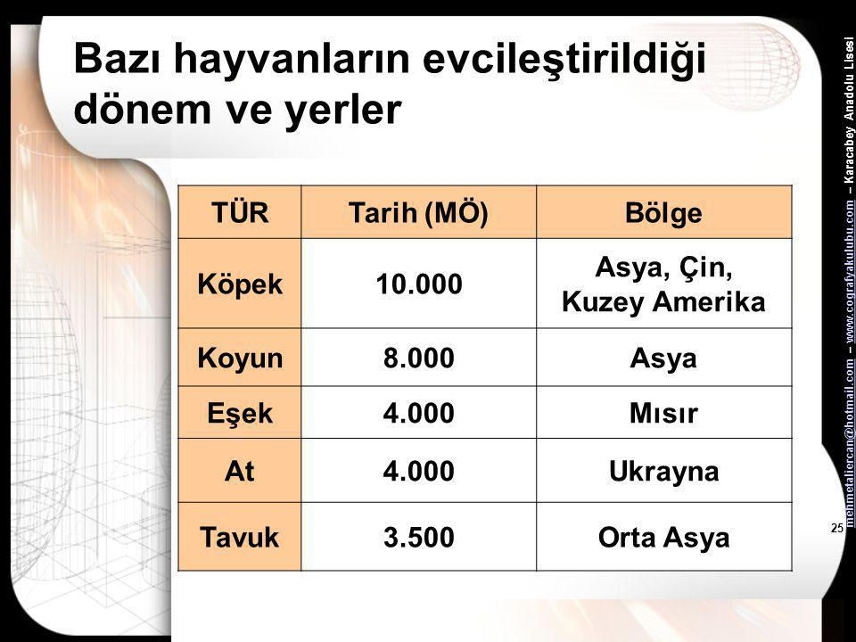 mehmetaliercan@hotmail.commehmetaliercan@hotmail.com – www.cografyakulubu.com – Karacabey Anadolu Lisesiwww.cografyakulubu.com 24 Kalkolitik Çağ •Geli