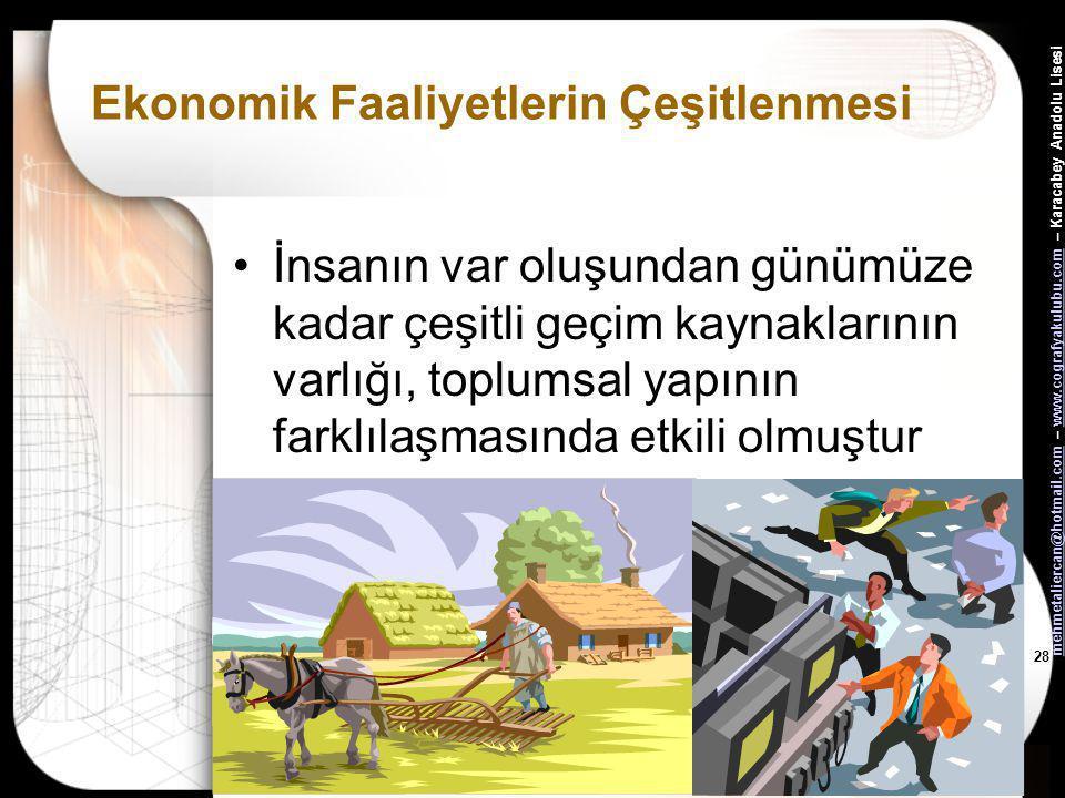 27 Ekonomik Faaliyetlerin Çeşitlenmesi mehmetaliercan Karacabey Anadolu Lisesi