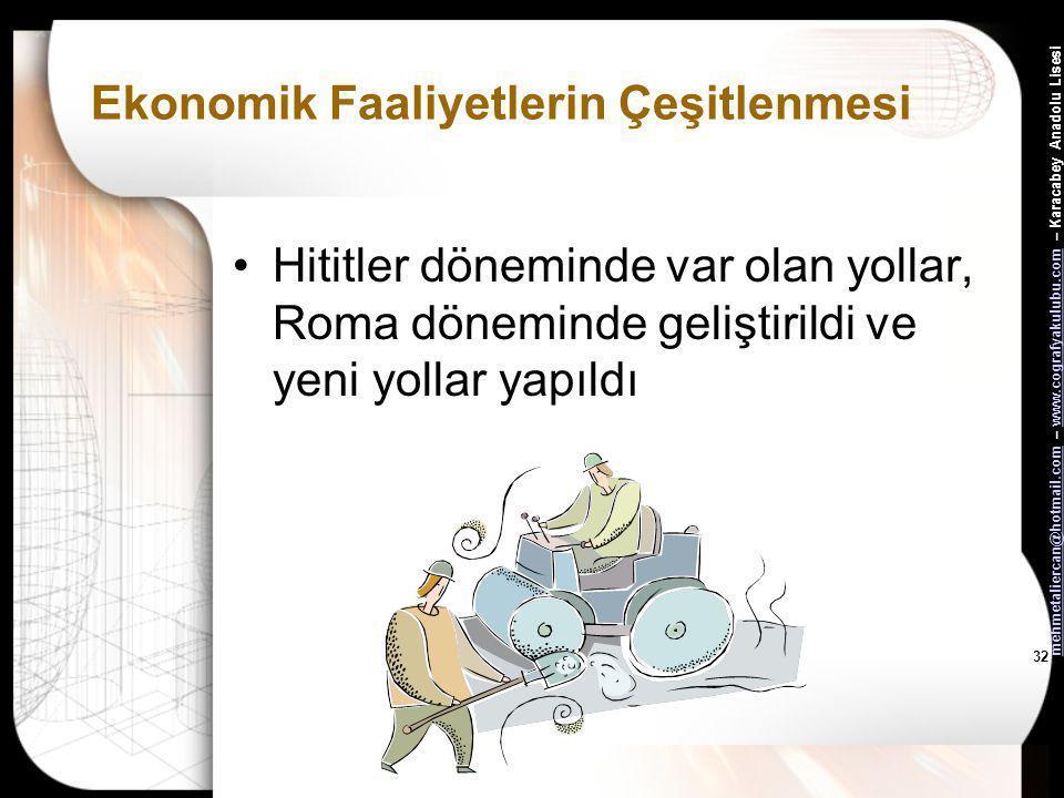 mehmetaliercan@hotmail.commehmetaliercan@hotmail.com – www.cografyakulubu.com – Karacabey Anadolu Lisesiwww.cografyakulubu.com 31 Ekonomik Faaliyetler