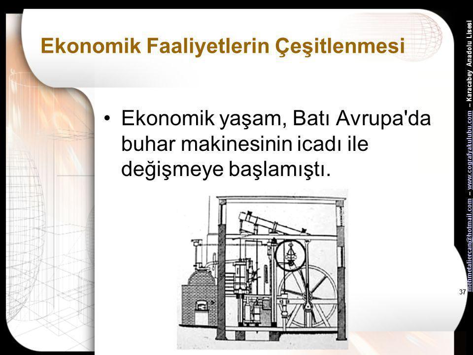 mehmetaliercan@hotmail.commehmetaliercan@hotmail.com – www.cografyakulubu.com – Karacabey Anadolu Lisesiwww.cografyakulubu.com 36 Ekonomik Faaliyetler