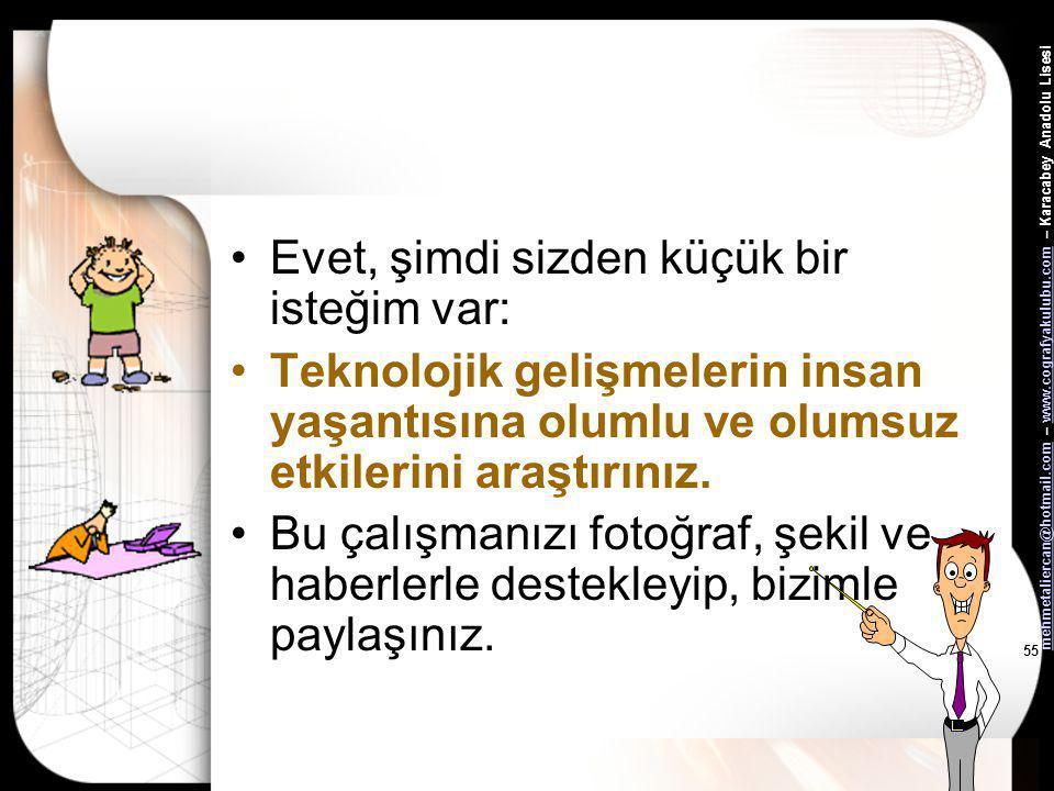 mehmetaliercan@hotmail.commehmetaliercan@hotmail.com – www.cografyakulubu.com – Karacabey Anadolu Lisesiwww.cografyakulubu.com 54 Aşağıda verilen özel