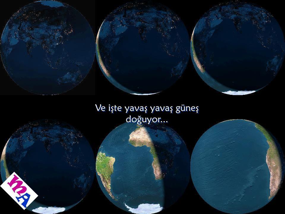 Dünyanın uzaydan gece görüntüsü Dünyanın uzaydan gece görüntüsü