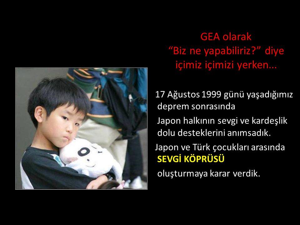 GEA olarak, 17 Ağustos 1999 Marmara Depremi'nden sonra, depremi yaşamış bölgelerde ilköğretim okulu öğrencileri için 23 Nisan 2000 tarihinde GEA&Unilever Sevgi Köprüsü isimli bir resim yarışması düzenlemiştik.