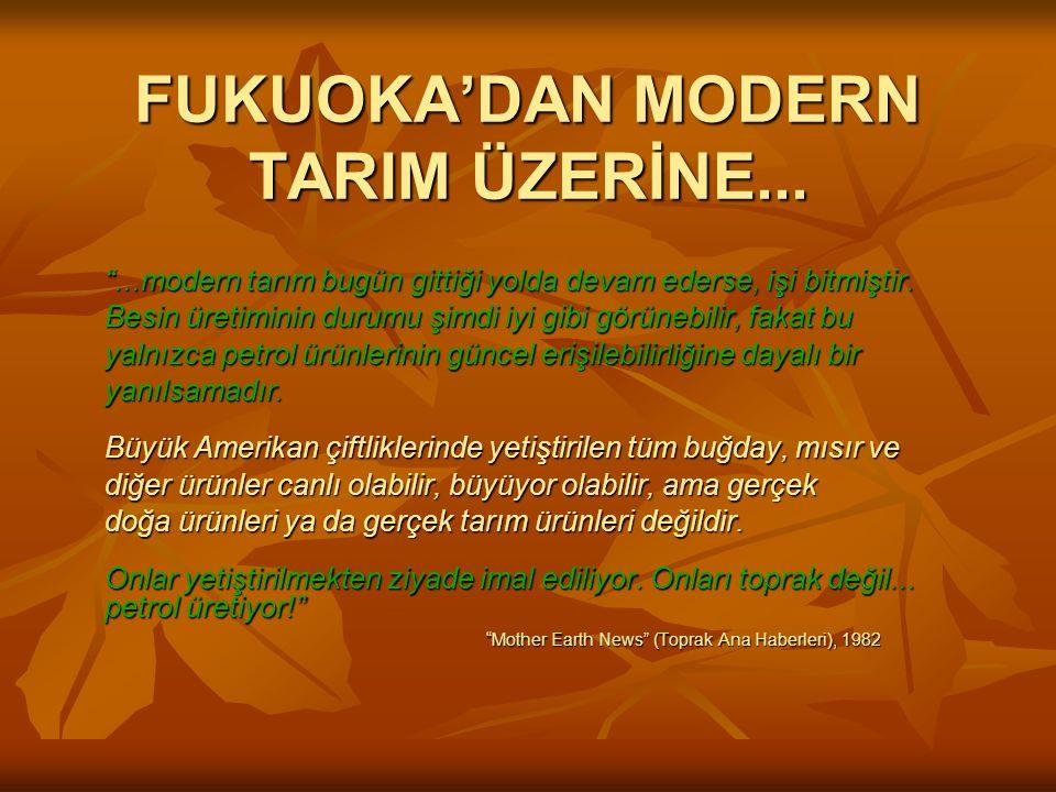 FUKUOKA'DAN MODERN TARIM ÜZERİNE...