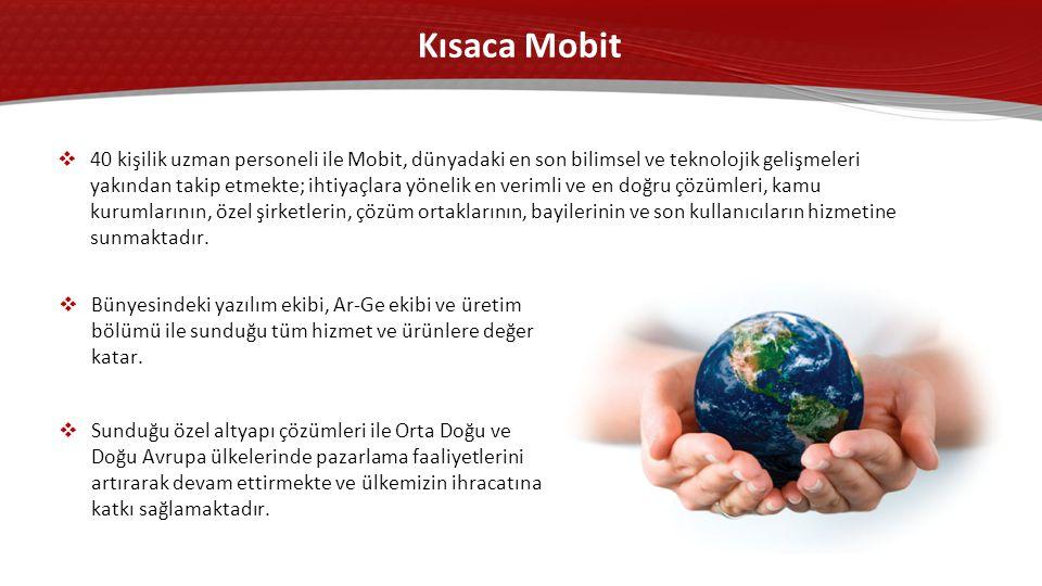 Kısaca Mobit  Bünyesindeki yazılım ekibi, Ar-Ge ekibi ve üretim bölümü ile sunduğu tüm hizmet ve ürünlere değer katar.