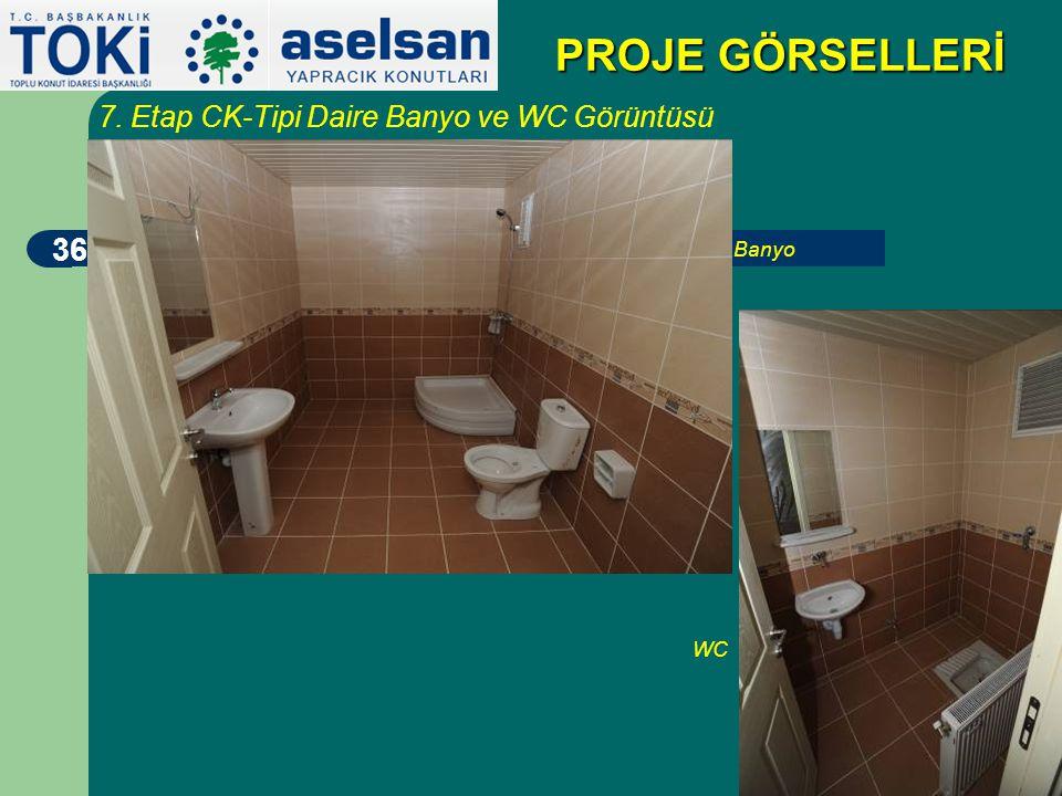 35 PROJE GÖRSELLERİ 7. Etap CK-Tipi Daire Koridor Görüntüsü (Oda1 - Oda2 - Oda3 - Oda4 - Banyo)