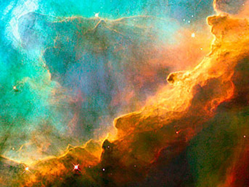 Resimde dünyadan 5500 ışık yılı uzakta olan 'Swan Nebula'sındaki 'Perfect storm' (Kusursuz Fırtına) adı verilen bölge görülüyor. www.diniders.wordpres