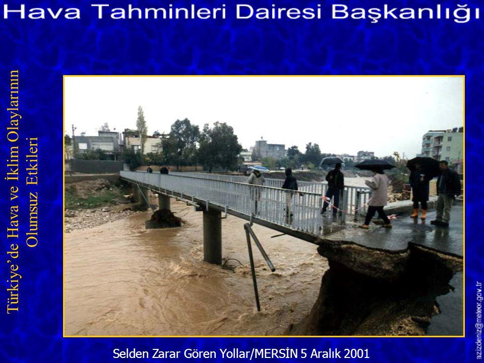 Selden Zarar Gören Yollar/MERSİN 5 Aralık 2001 Türkiye'de Hava ve İklim Olaylarının Olumsuz Etkileri