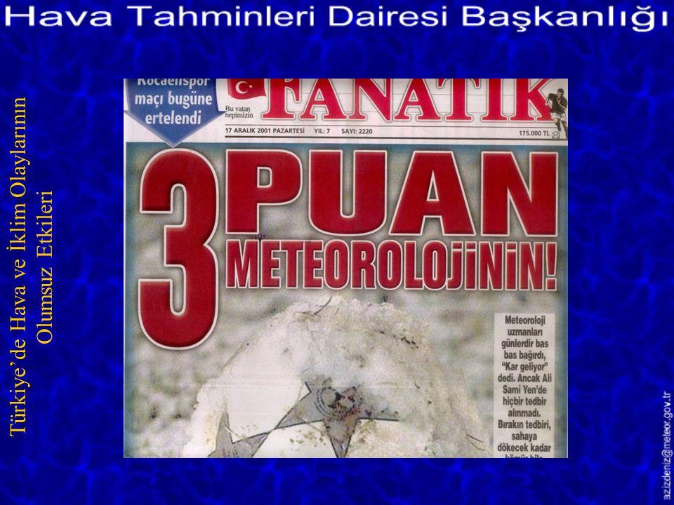 Göksu Nehri Taştı/MERSİN 27 Aralık 2001 Türkiye'de Hava ve İklim Olaylarının Olumsuz Etkileri
