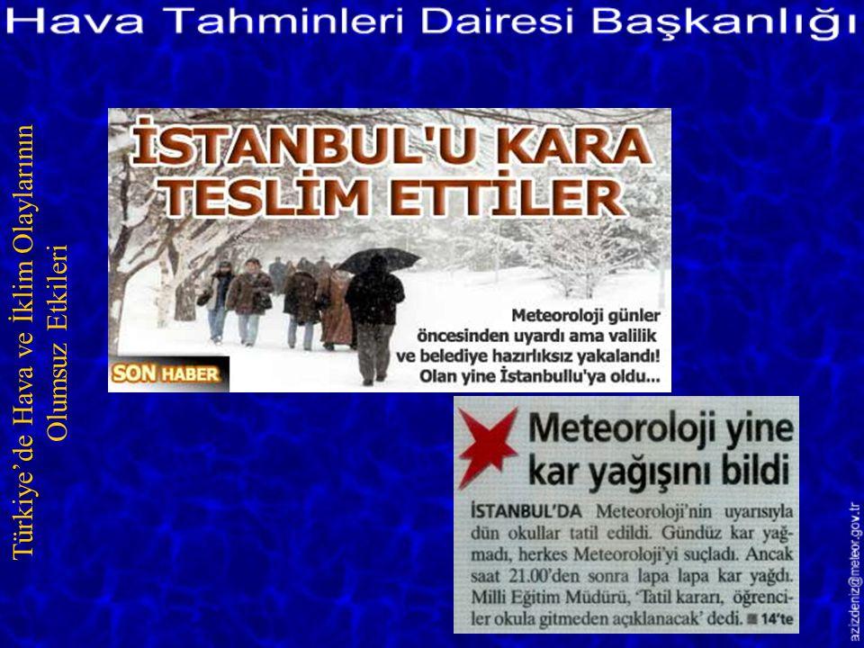Türkiye'de Hava ve İklim Olaylarının Olumsuz Etkileri