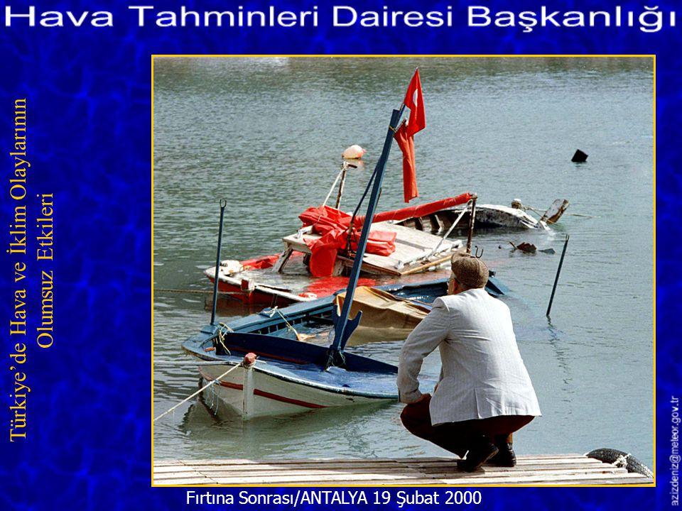 Karadeniz'de Fırtına 9 Aralık 2001 Türkiye'de Hava ve İklim Olaylarının Olumsuz Etkileri