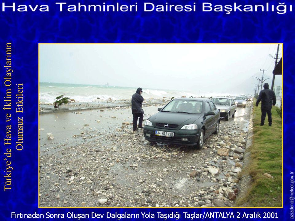 Samsun'da Fırtına 16 Aralık 1999 Türkiye'de Hava ve İklim Olaylarının Olumsuz Etkileri