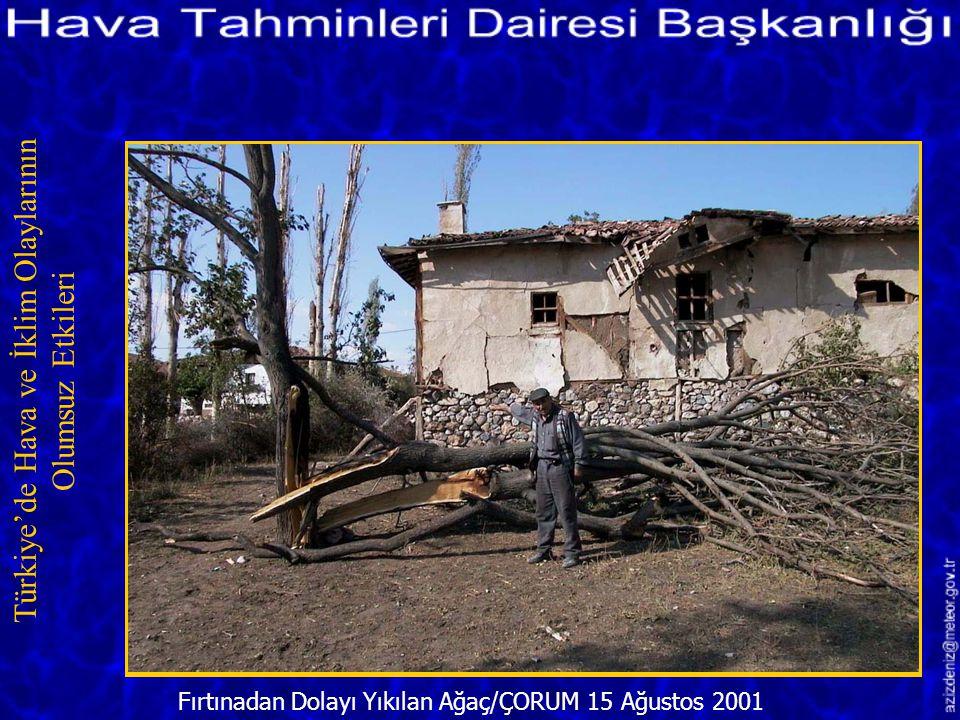Aşırı Yağış ve Fırtınadan Hasar Gören Ev/ÇORUM 15 Ağustos 2001 Türkiye'de Hava ve İklim Olaylarının Olumsuz Etkileri