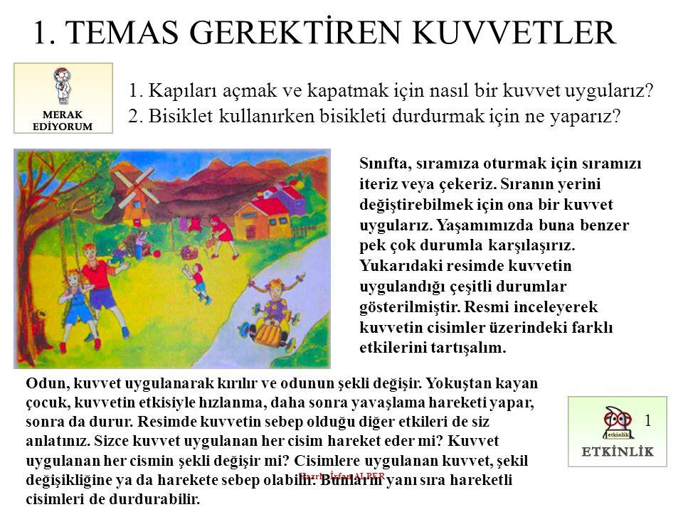 Hazrl : İrfan ALPER 1.TEMAS GEREKTİREN KUVVETLER 1.