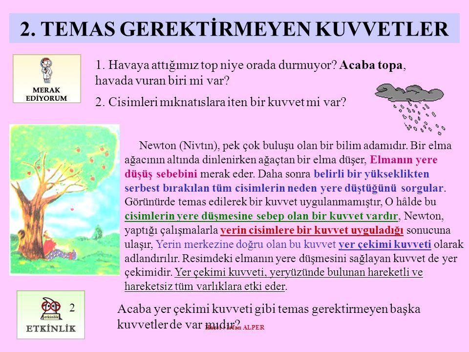 Hazrl : İrfan ALPER 2.TEMAS GEREKTİRMEYEN KUVVETLER 1.