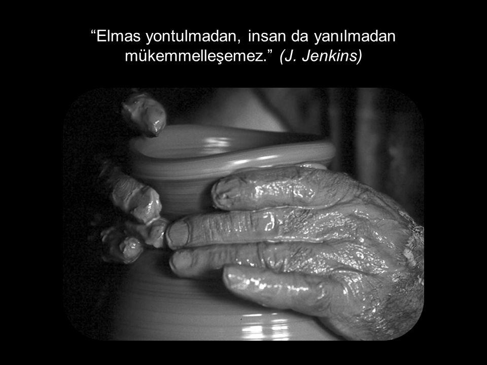 """""""Elmas yontulmadan, insan da yanılmadan mükemmelleşemez."""" (J. Jenkins)"""