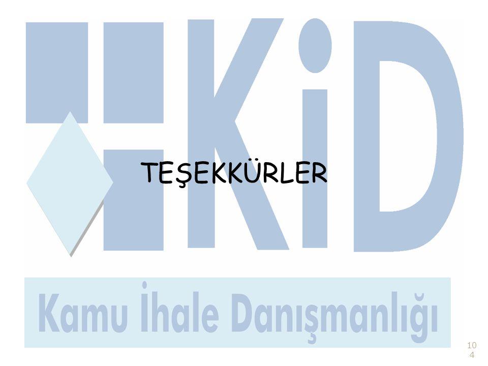 104 TEŞEKKÜRLER