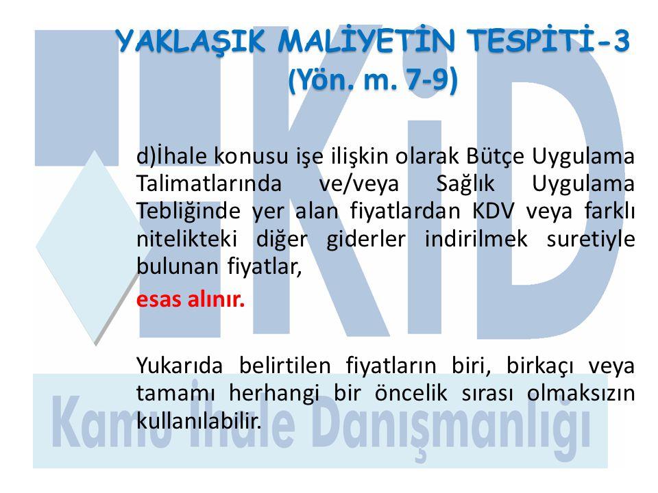 İHALEYE KATILIMDA İSTENECEK BELGELER-1 (Yön.m.