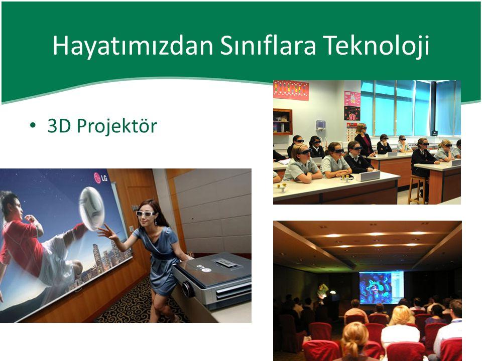• 3D Projektör Hayatımızdan Sınıflara Teknoloji