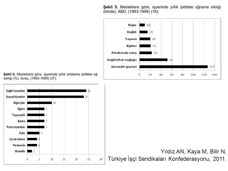 Yıldız AN, Kaya M, Bilir N, Türkiye İşçi Sendikaları Konfederasyonu, 2011.