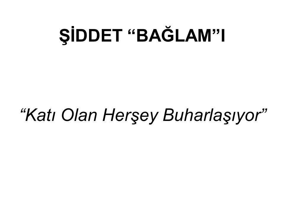 """ŞİDDET """"BAĞLAM""""I """"Katı Olan Herşey Buharlaşıyor"""""""