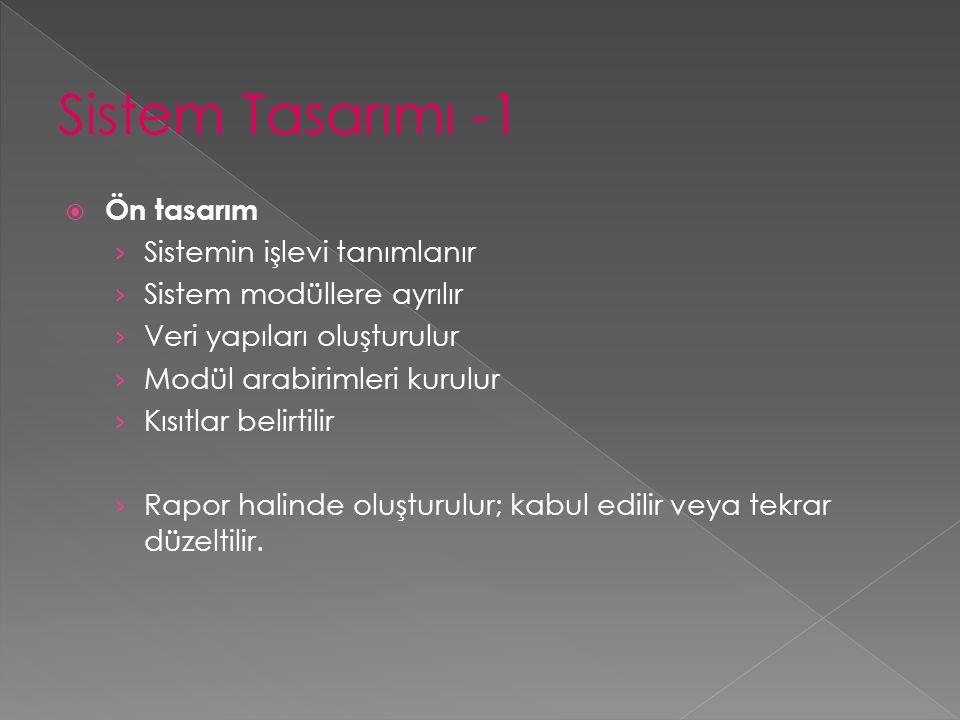  Ekran Tasarımında: › Kolay kullanım ve basitlik: Gereksiz bilgi bulunmaması, pencerelerde girilecek veriyle ilgili bilgi olması › Uyumluluk: bilgi toplama formları ve diğer ekran görünümleri › Hareket kolaylığı: ekrandan ekrana geçme ve başlık kolonunu sabit tutarak diğer kolonları kaydırma şeklinde › Çekici ekran tasarımı: tüm ekranların belli bir düzene uygun hazırlanması ve imleç yapısı, font tipinin seçimi  Ekran Tasarımında Renk Kullanımı: › Zemin ve kalem rengi uyumlu olmalıdır › Fazla parlak ve koyu renkler kullanılmamalı › Önemli yerler parlak hale getirilmeli › En kolay okunan 5 renk grubu  Sarı üzerine siyah  Beyaz üzerine yeşil  Beyaz üzerine mavi  Mavi üzerine beyaz  Siyah üzerine sarı › En zor okunan renkler  Yeşil üzerine kırmızı  Kırmızı üzerine mavi