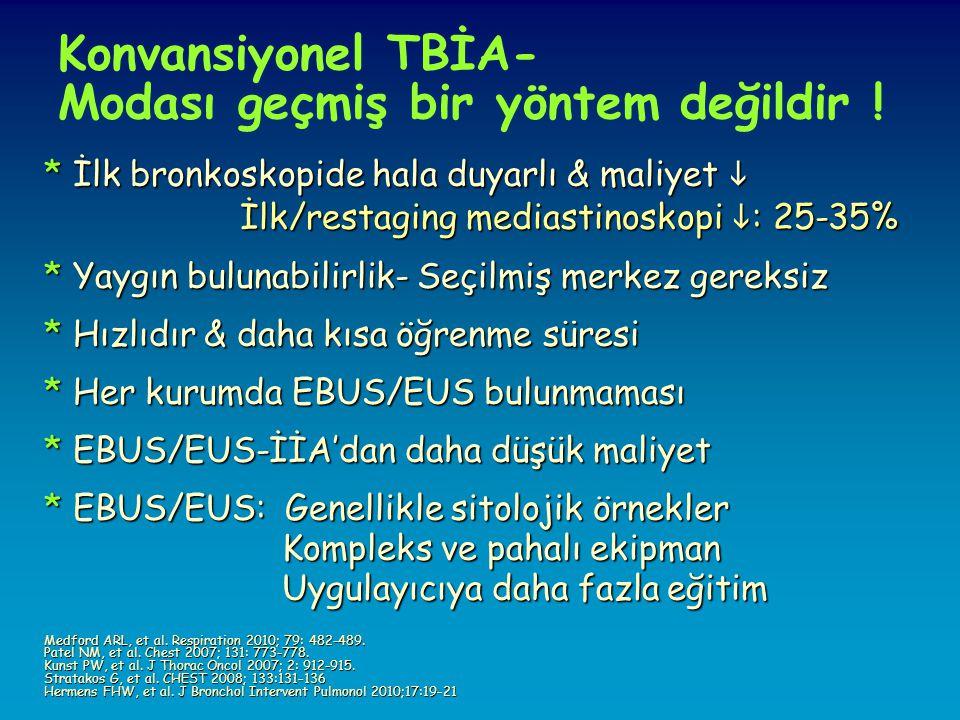 Konvansiyonel TBİA- Modası geçmiş bir yöntem değildir .