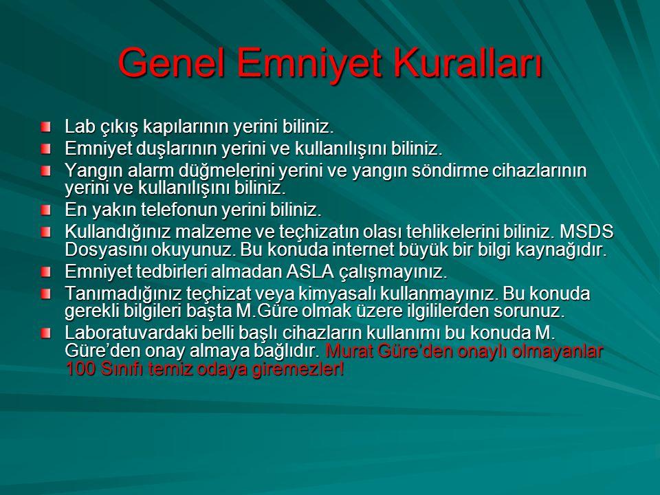 Kaza Anında Murat Güre, Ergun Bey tel: 1968, Güvenlik tel.