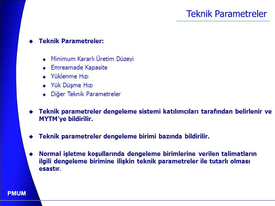 PMUM Günlük Üretim Programı (MW veya MWh) BaşlangıçBitiş SaatMWSaatMW 0502 2 4100 4 5150 5 8 8 9100 1010011100 12345678 50 100 150 200 MW Saat1091112