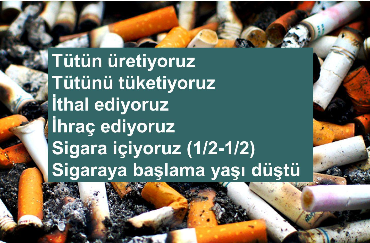 Sigara kullanımının ekonomik boyutu Sigara satın almak için harcanan para (hastalık tanı-tedavi harcamaları eklenmeli) Kişisel  5 YTL/gün....