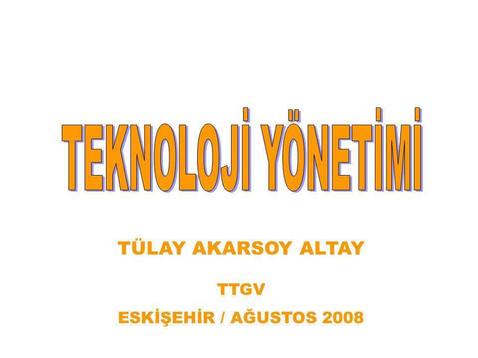 Teknolojik İnovasyon(yenilik) ATG, Ar- Ge Ür-Ge, strateji, yönetim + Teknoloji Teknoloji Yönetimi