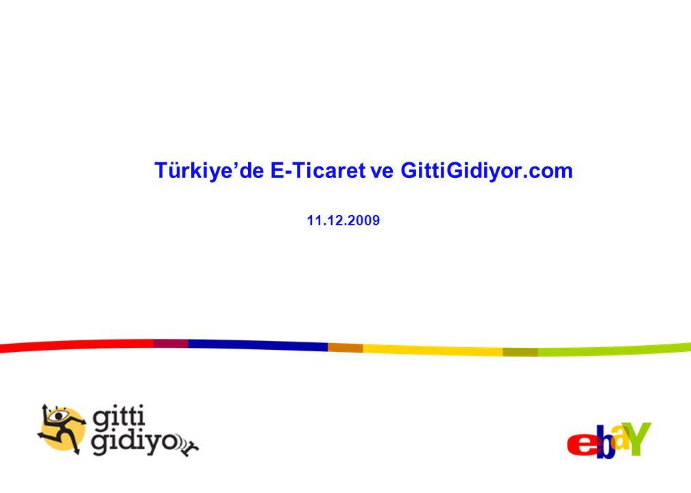 Dünyada ve Türkiye'de İnternete Erişim Oranı ve İnternet Kullanıcı Sayısı İnternete Erişim Oranları (%), İlk 25 Ülke, 2008 İnternet Kullanıcı Sayısı (milyon), 2008 Kaynak: www.internetworldstats.com ve eBaywww.internetworldstats.com Avrupa Birliği'nde internet erişim ortalaması: %59 Türkiye'nin büyüme potansiyeli yüksek.
