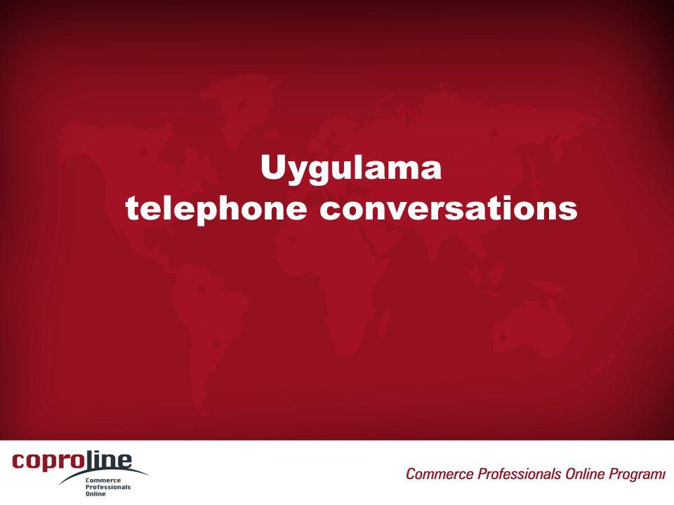 Uygulama telephone conversations