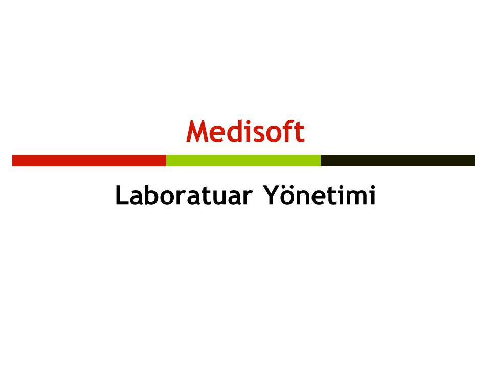 Medisoft Laboratuar Yönetimi