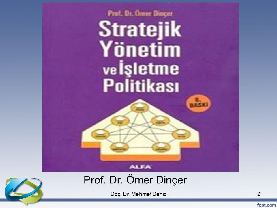 83 STRATEJİK YÖNETİM MODELİ Strateji Formulasyonu (Stratejik Tasarım) Stratejik Uygulama Değerlendirme ve Kontrol Misyon Amaçlar Stratejiler Politikalar Geri Besleme/Öğrenme Stratejik Analiz Sosyal Çevre Genel çevre İş çevresi Endüstri analizi Yapı (Emir-Komuta) Kaynaklar (Varlıklar, Beceriler Yetkinlikler, Bilgi) Kültür (İnançlar, Değerler, Beklentiler) Varlık nedeni Başarmak İstediğimiz sonuçlar Misyon ve amaçları gerçekleştir ecek planlar Karar verme rehberimiz Programlar Bir planı başarmak için ihtiyaç duyulan faaliyetler Bütçeler Programların maliyeti Prosedürler Bir işi yapmak için ihtiyaç duyulan ardışık adımlar Performansı izleme ve düzeltici tedbirleri alma süreci Başarı durumu Dış Çevre İşletme içi Doç.