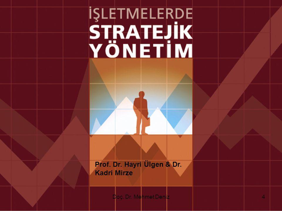 Stratejik Plan & Taktik Plan Karşılaştırması 75Doç. Dr. Mehmet Deniz