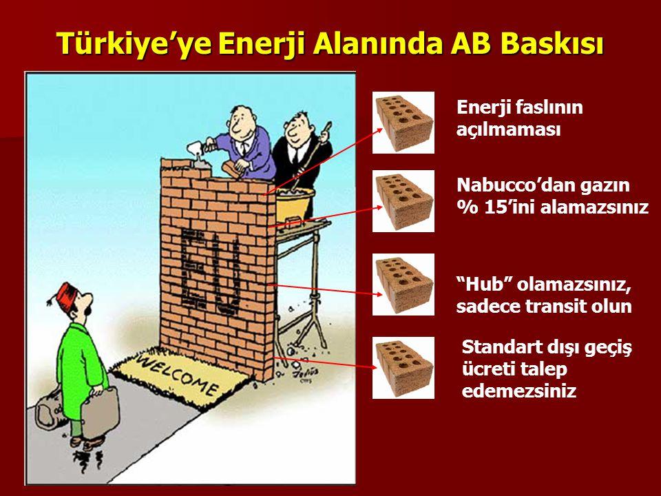 """Türkiye'ye Enerji Alanında AB Baskısı Enerji faslının açılmaması Nabucco'dan gazın % 15'ini alamazsınız """"Hub"""" olamazsınız, sadece transit olun Standar"""