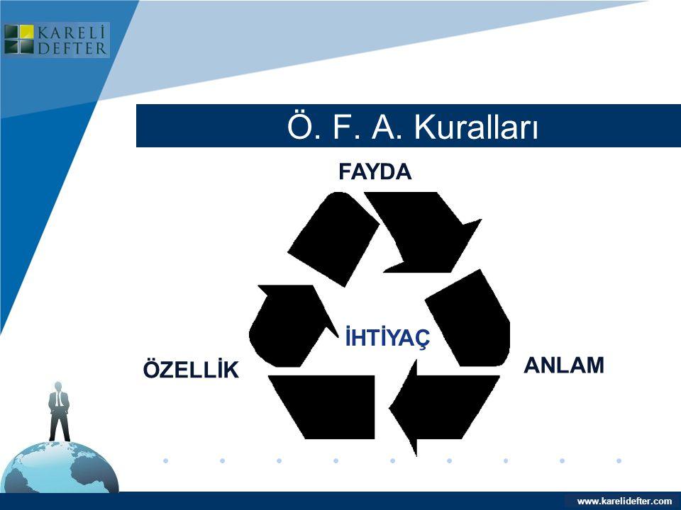 www.company.com Ö. F. A. Kuralları Company LOGO www.karelidefter.com FAYDA ANLAM ÖZELLİK İHTİYAÇ