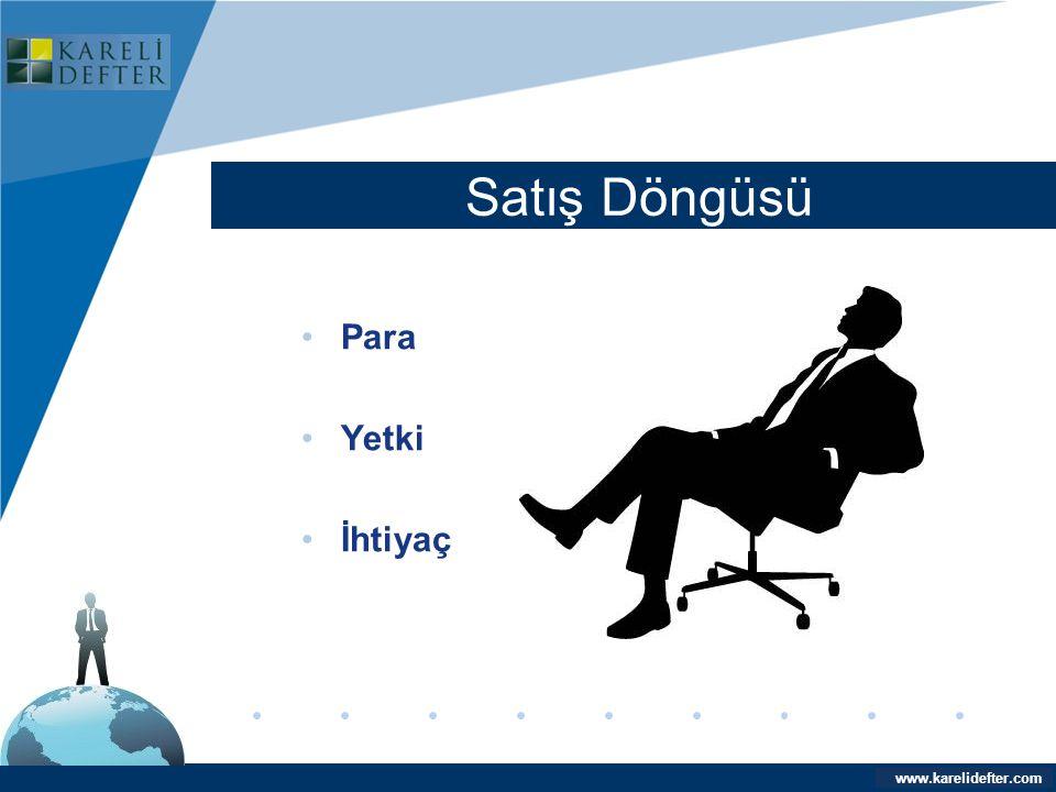 www.company.com Satış Döngüsü Company LOGO www.karelidefter.com •Para •Yetki •İhtiyaç