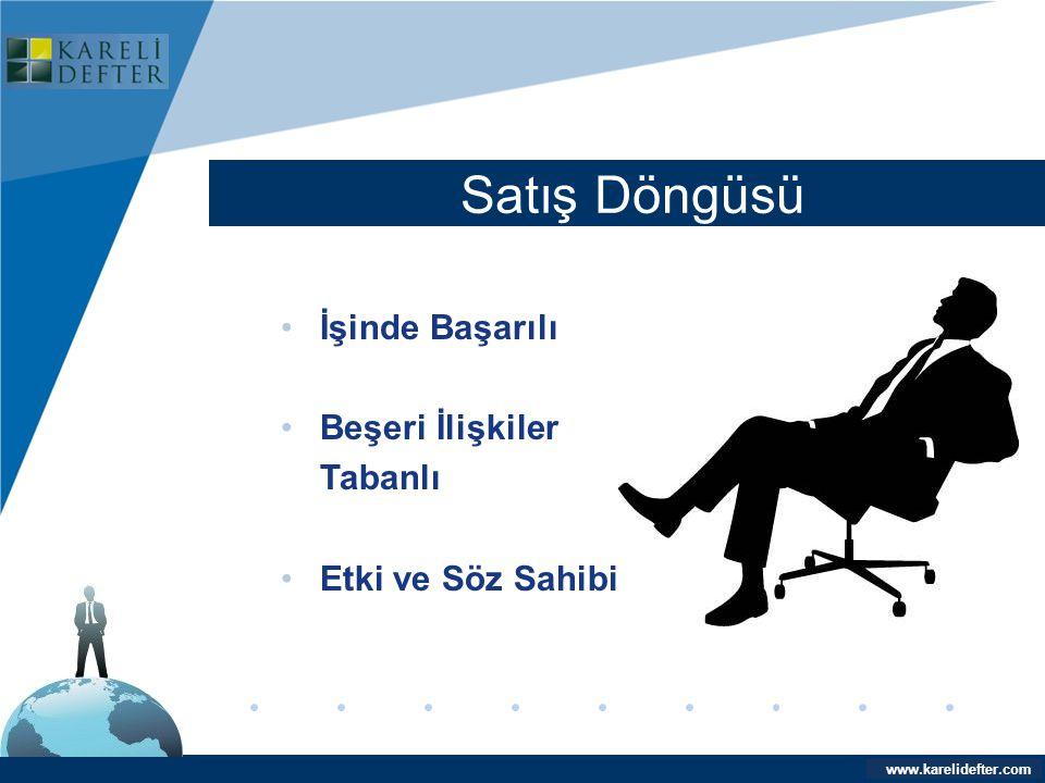 www.company.com Satış Döngüsü Company LOGO www.karelidefter.com •İşinde Başarılı •Beşeri İlişkiler Tabanlı •Etki ve Söz Sahibi