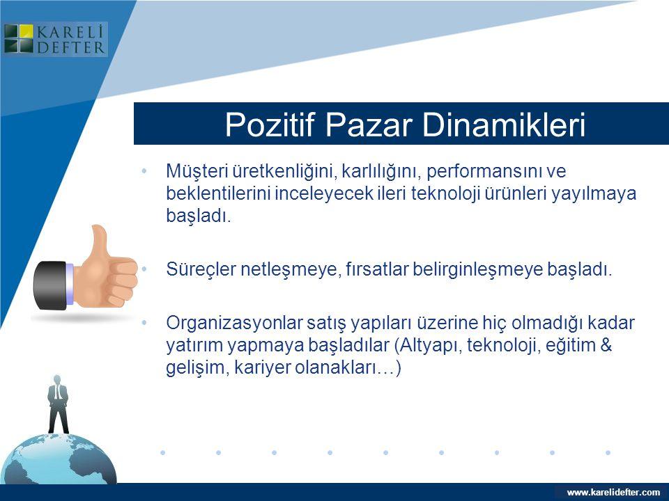 www.company.com Pozitif Pazar Dinamikleri Company LOGO www.karelidefter.com •Müşteri üretkenliğini, karlılığını, performansını ve beklentilerini incel