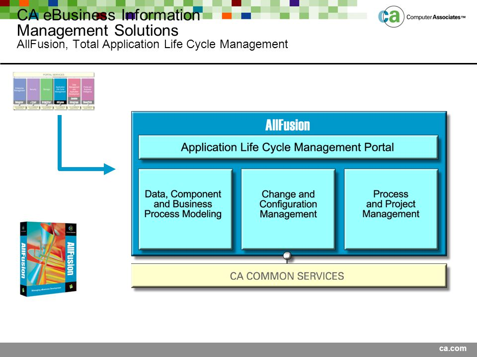 ca.com CA eBusiness Information Management Solutions AllFusion, Total Application Life Cycle Management