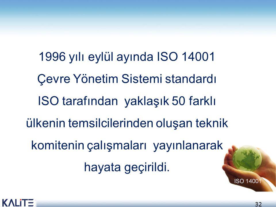 33 •ISO 14001 bir ürün standardı değil sistem standardıdır ve ne üretildiğinden ziyade, nasıl üretildiği ile ilgilenir.