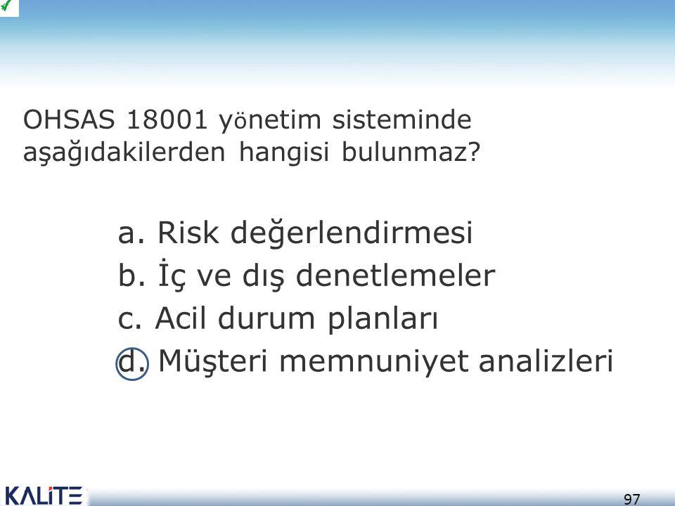 98 a.Yatırım planlaması b. Organizasyon c. Hedefleri belirleme d.