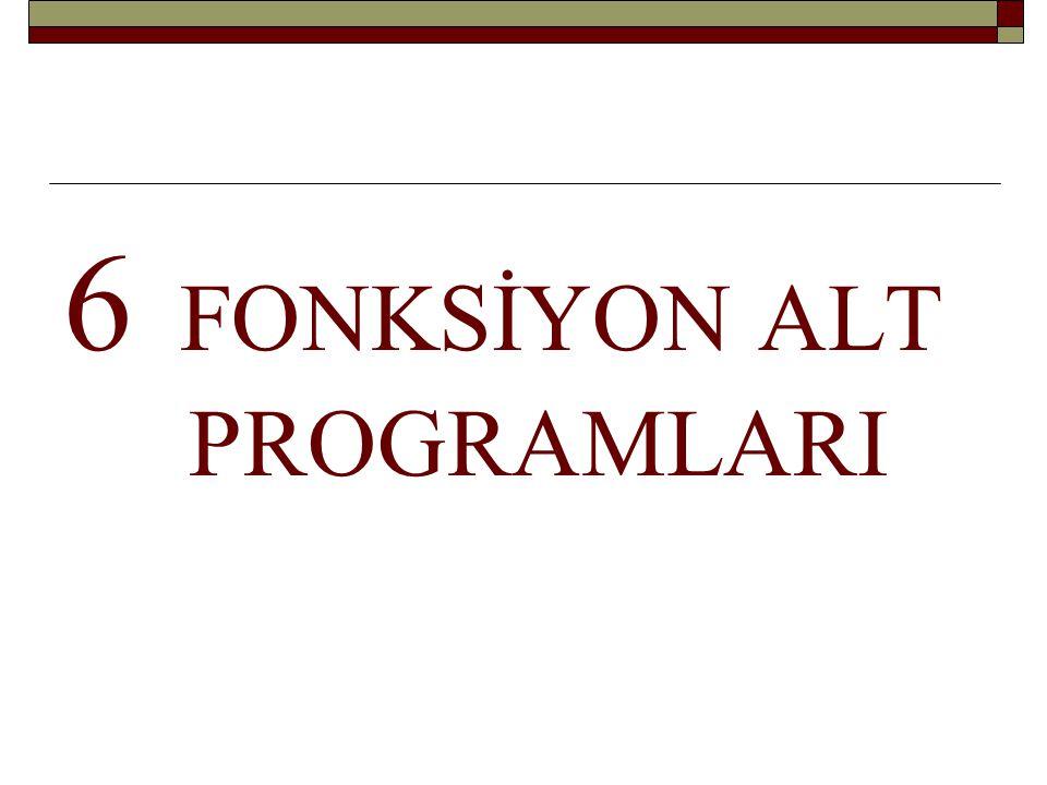 FORTRAN'ın İÇ FONKSİYONLARI Kitapta 324.
