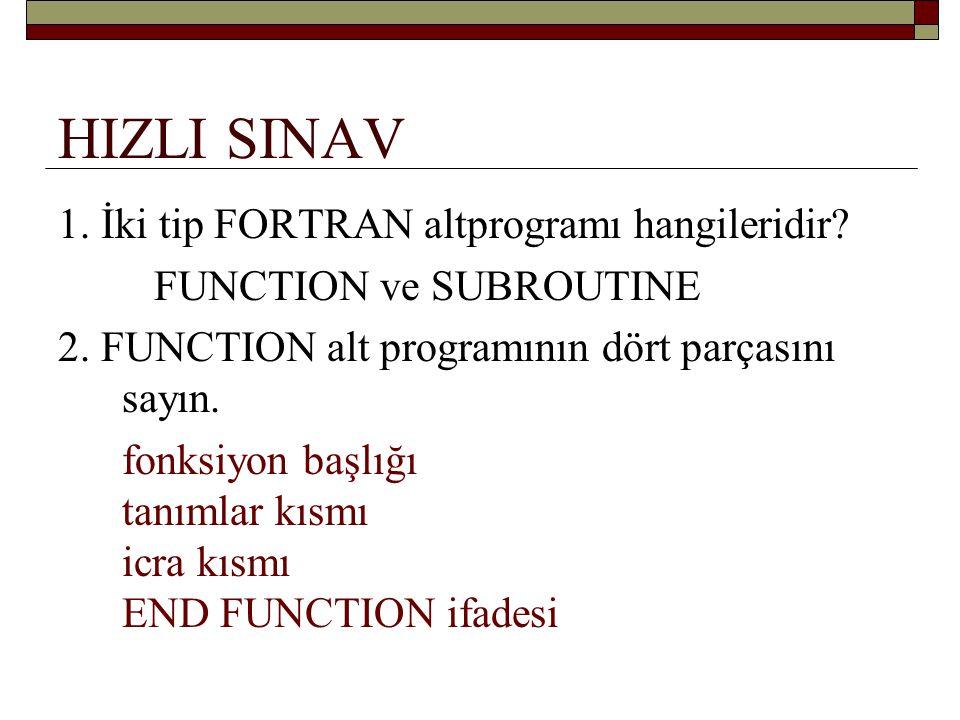 HIZLI SINAV 3.TOPLA (A, B) de A ve B nedir. TOPLA fonksiyonun argümanları 4.