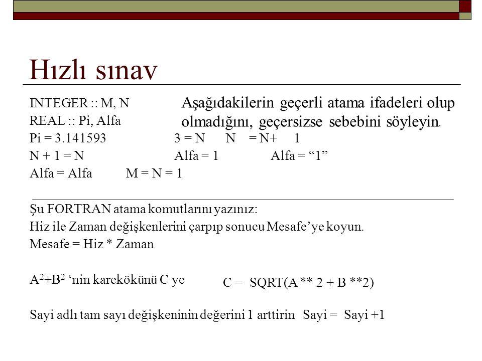 Serbest düşüş problemi z = ½ gt 2 + v 0 t + h 0 v = gt +v 0 Z = 0.5 * g * Zaman * Zaman + Vsifir * Zaman + Hsifir Hiz = g * Zaman + Vsifir